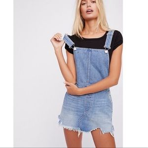 Barely worn free people overall dress